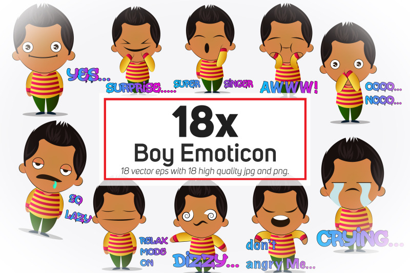 18x-boy-emoticon-or-stickers-character-collection-illustration
