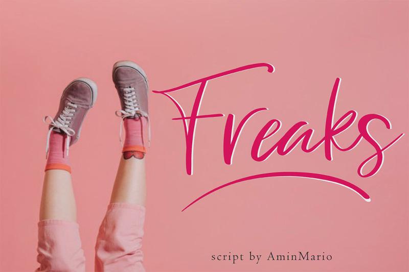 freaks-script-font