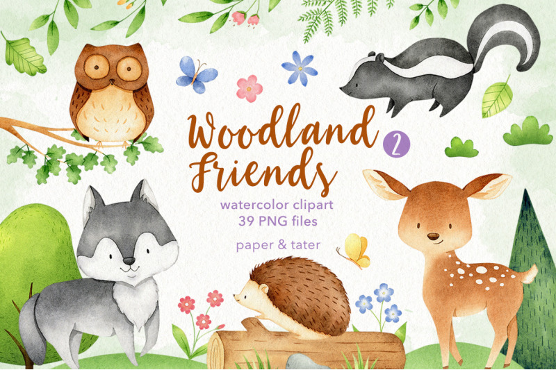 watercolor-woodland-animals-2-clipart-graphics