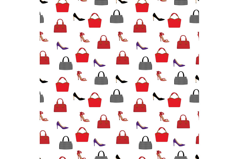 woman-shoe-and-bag-pattern
