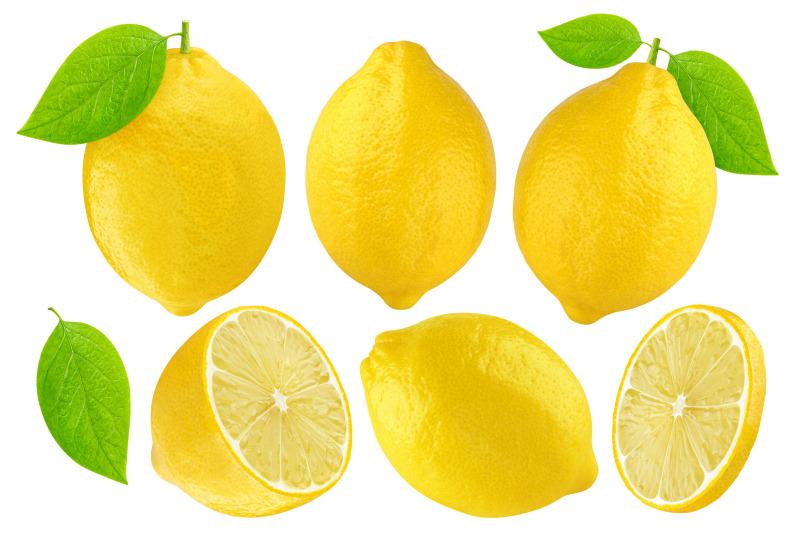 lemon-fruits-isolated-white-background