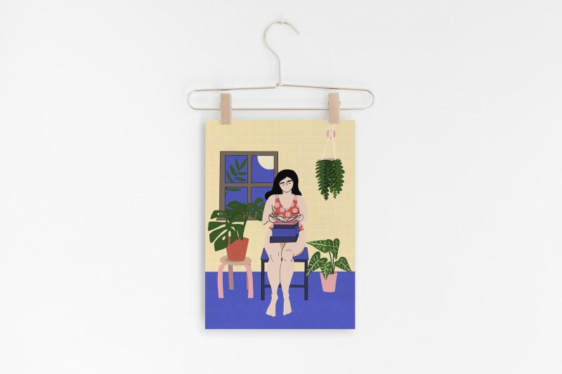 stay-home-illustration-set