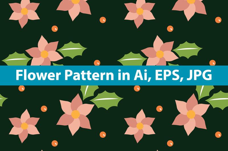 flower-pattern-green-background