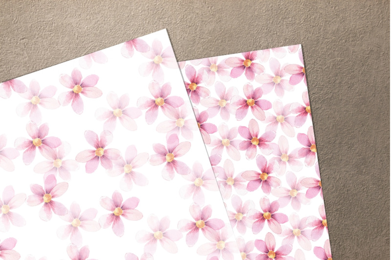 delicate-floral-set-1-watercolor-wreath-and-patterns