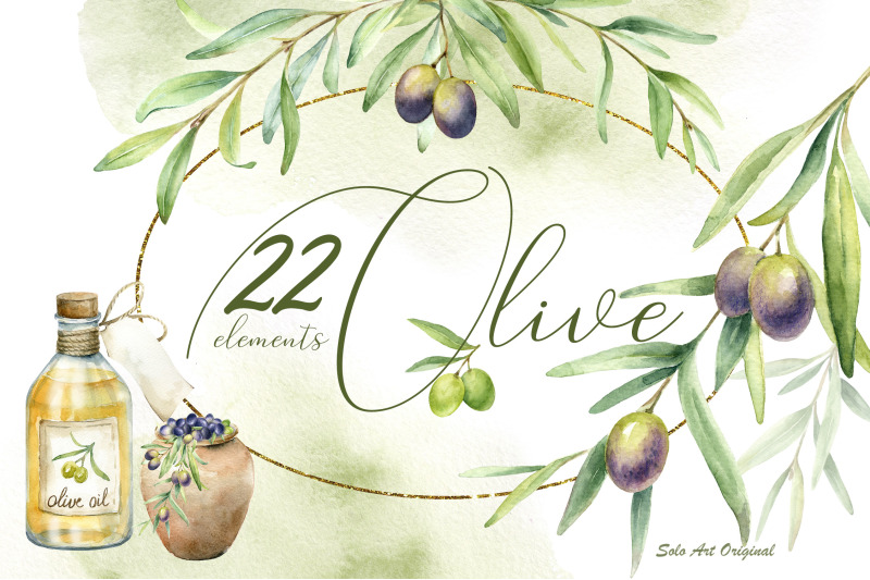 olive-trees-watercolor-clipart-set