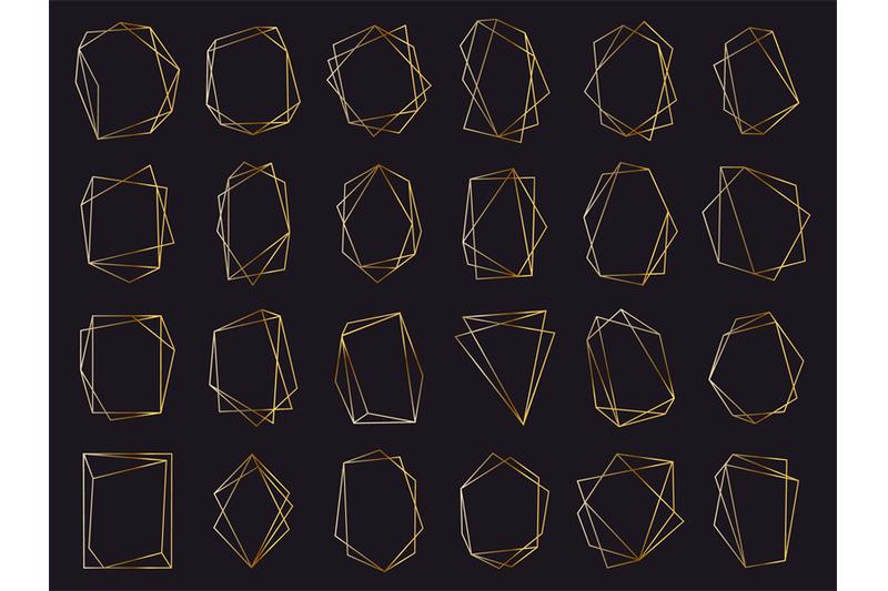 gold-geometric-frames-elegant-golden-luxury-frames-geometric-wedding