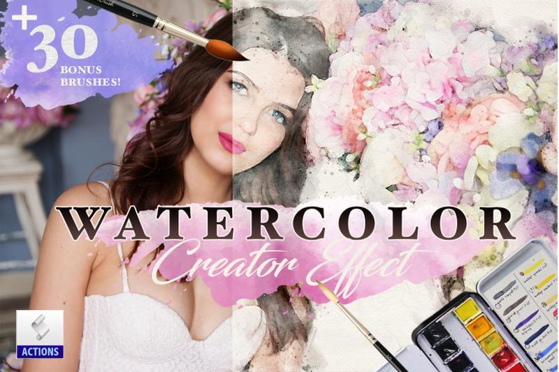 watercolor-sketch-creator-effects-photoshop-action-bundle