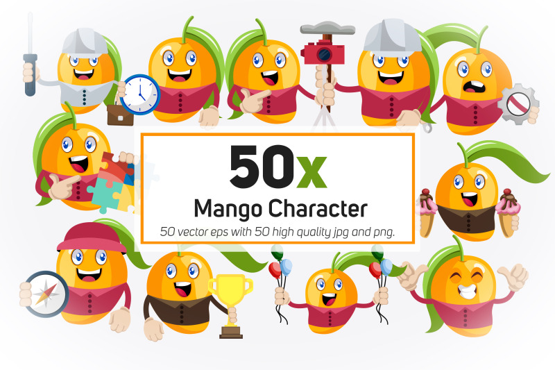 50x-mango-character-or-mascot-collection-illustration