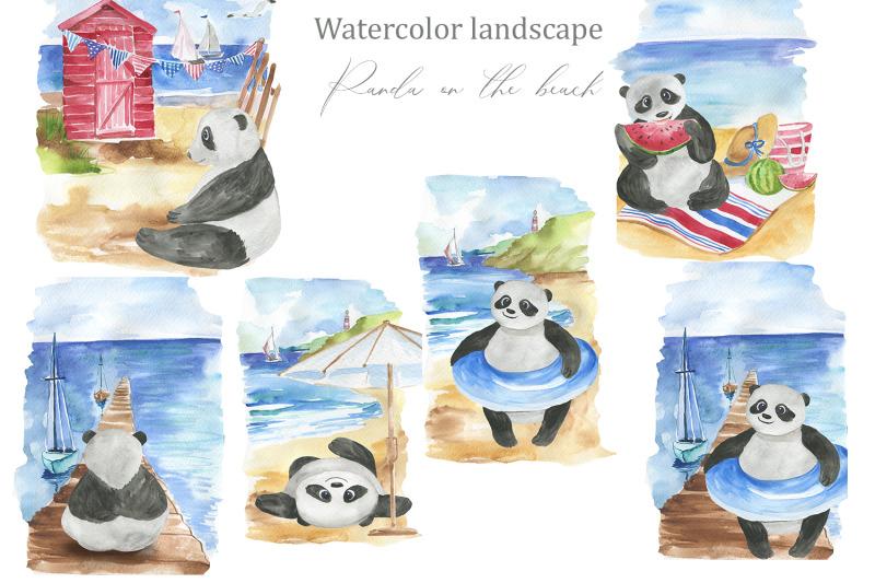panda-on-the-beach