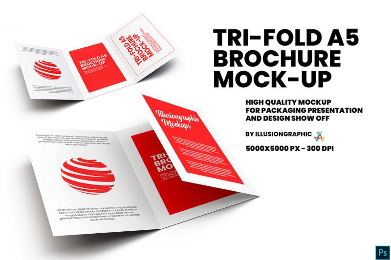 Download Tri-Fold A5 Brochure Mock-up Free Mockups