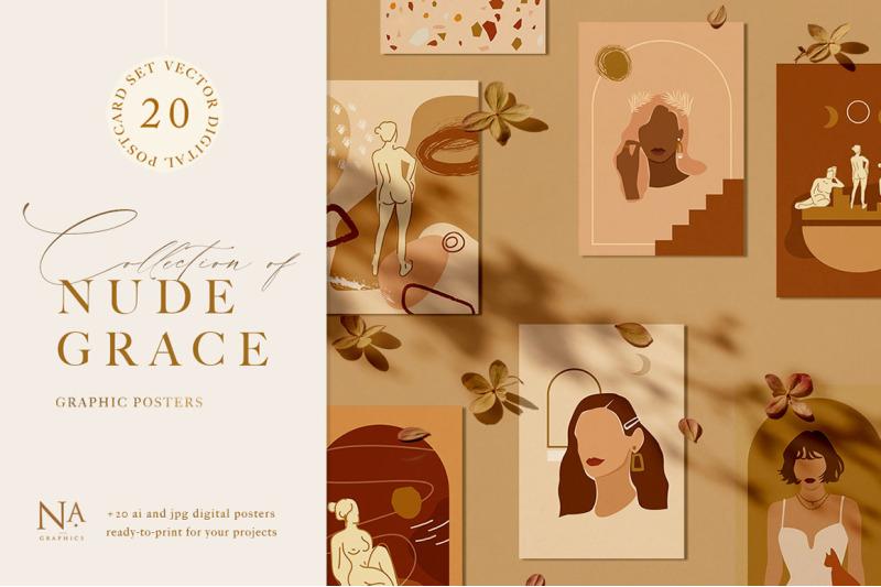 nude-grace-modern-vector-set