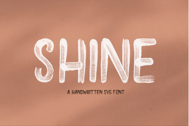 shine-solid-and-svg-brush-font