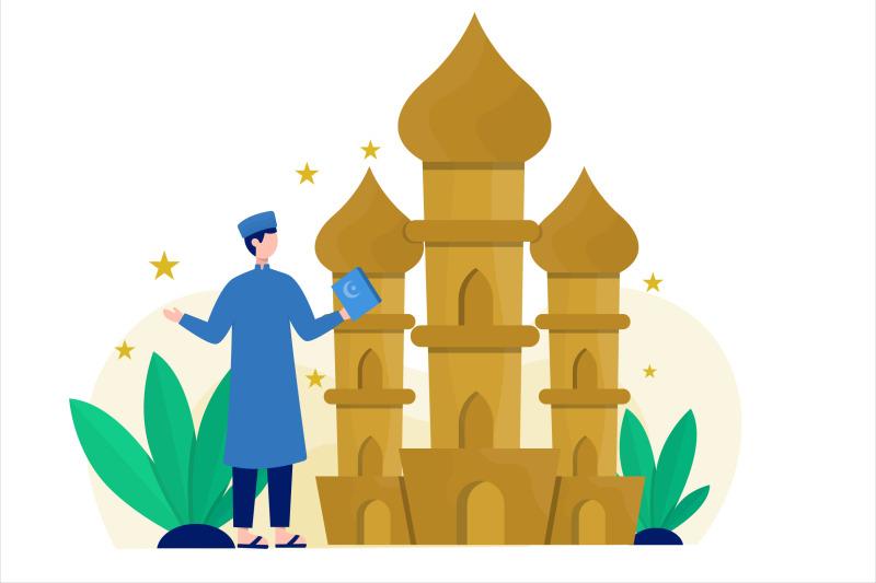 ramadan-concept-flat-vector-illustration