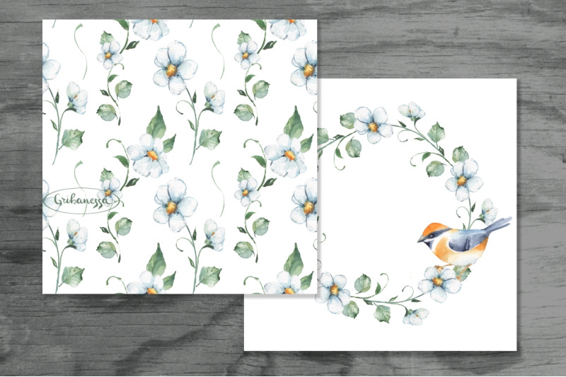 white-flowers-pattern-and-card