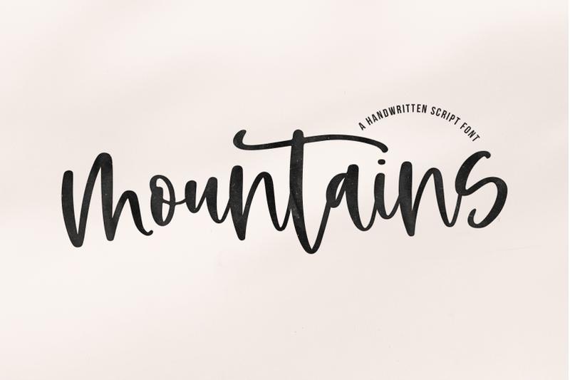 mountains-handwritten-script-font