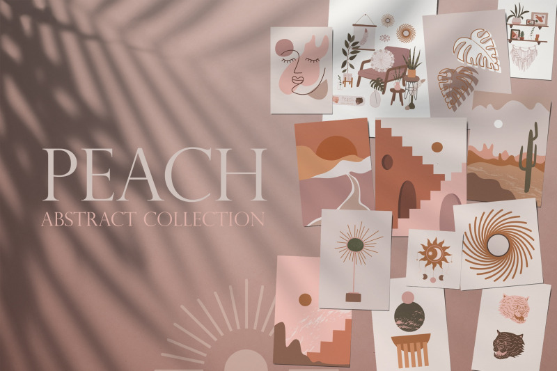 peach-abstract-collection