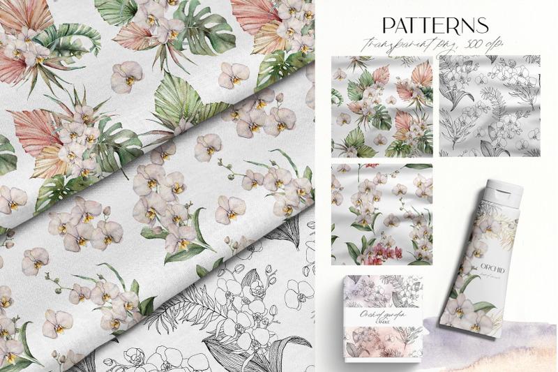 tropical-orchids-watercolor-bundle