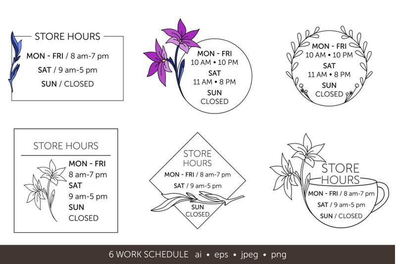 minimalistic-logo-set-logo-templates-schedule