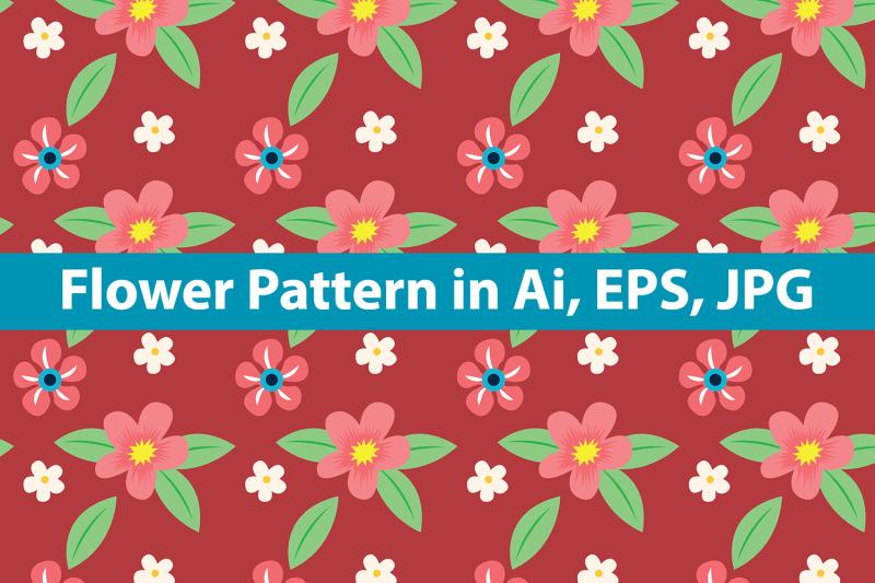 flower-pattern-vector-design