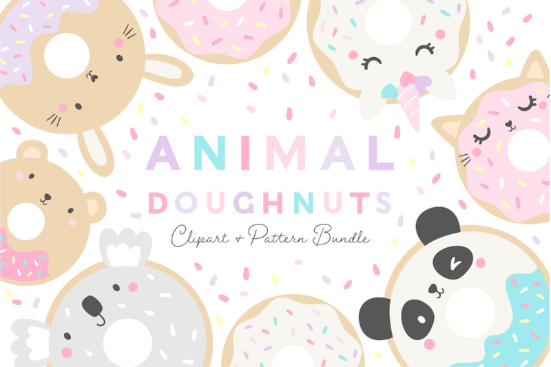 animal-doughnuts-clipart-and-pattern-set
