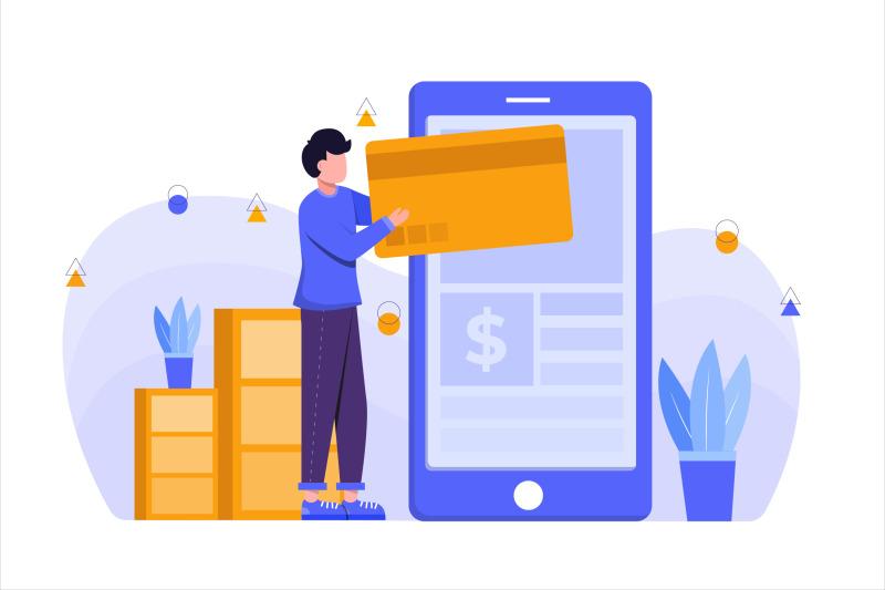 e-commerce-app-flat-vector-illustration