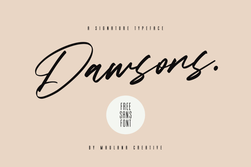 dawsons-script-free-sans-font