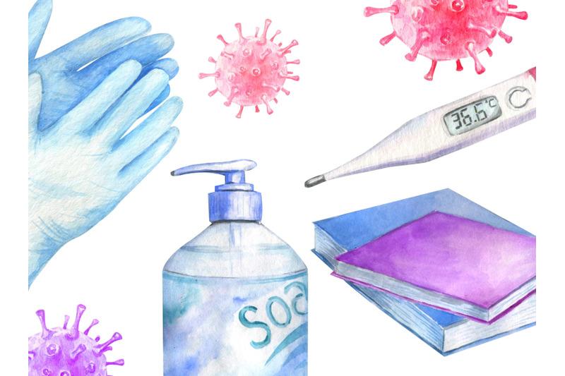 watercolor-quarantine-virus-self-isolation-epidemic-covid-clipart-png