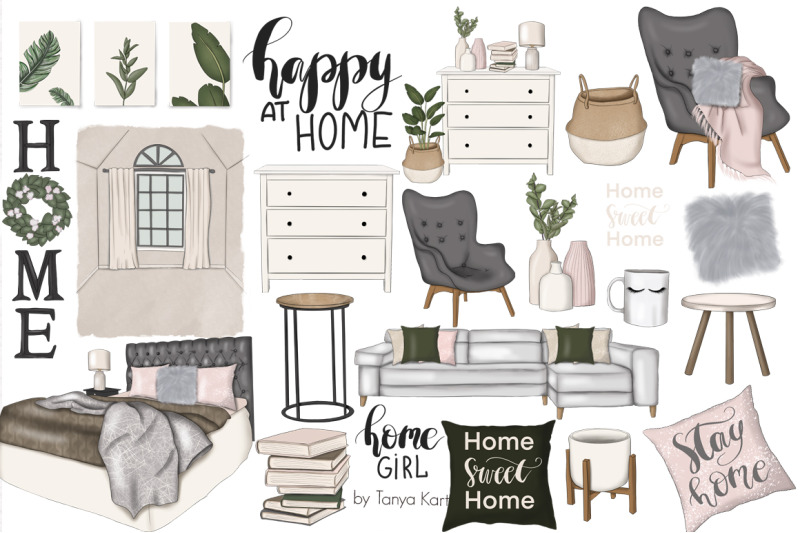 happy-at-home-clipart-amp-patterns