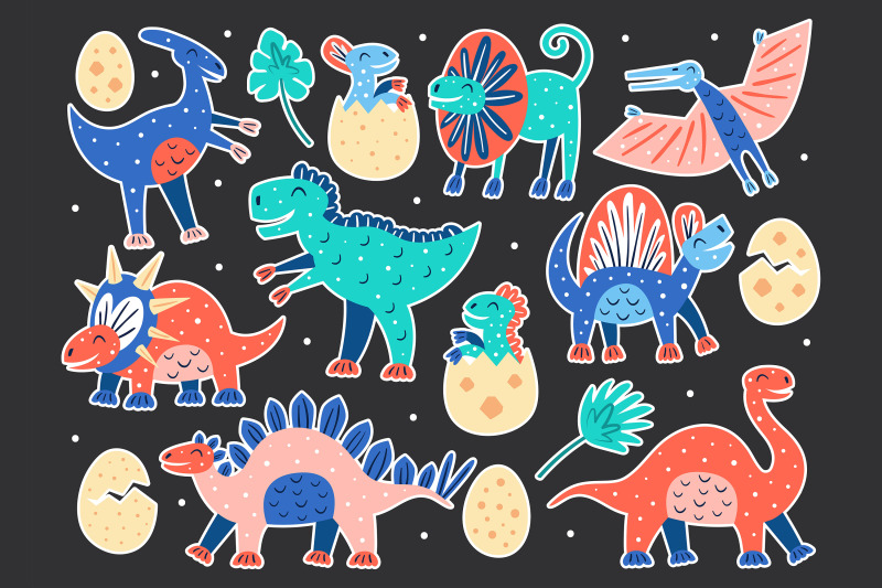 dinosaur-clipart-dino-prints-stickers-prehistoric-animals