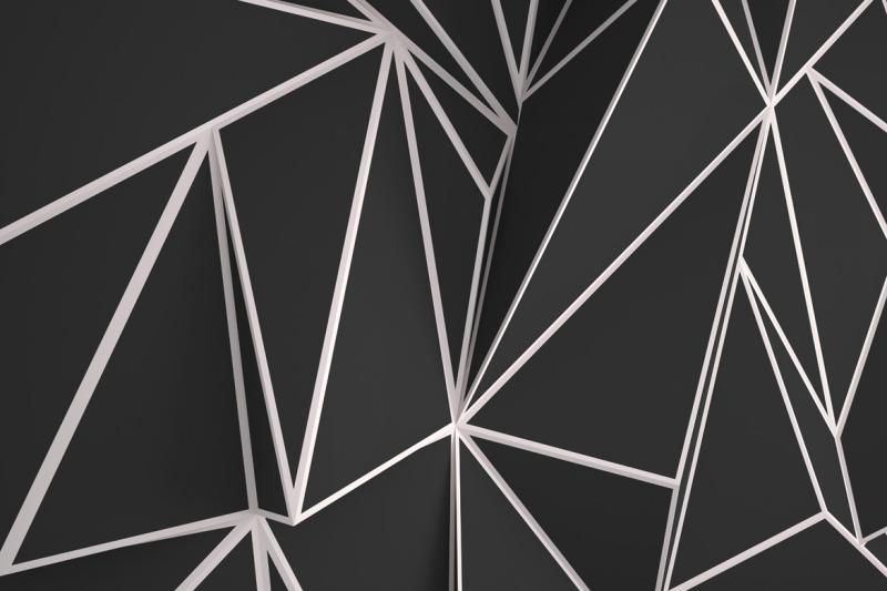 black-3d-polygonal-backgrounds