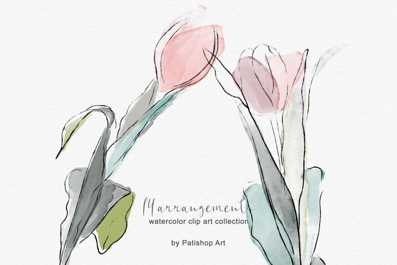 delicate-watercolor-tulip-clipart-set