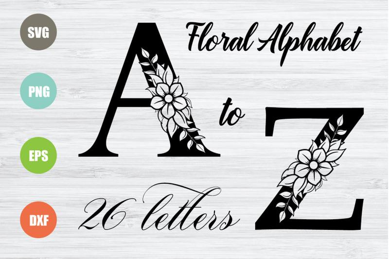 floral-alphabet-svg-26-letters
