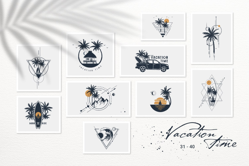 50-logos-amp-badges-vacation-time