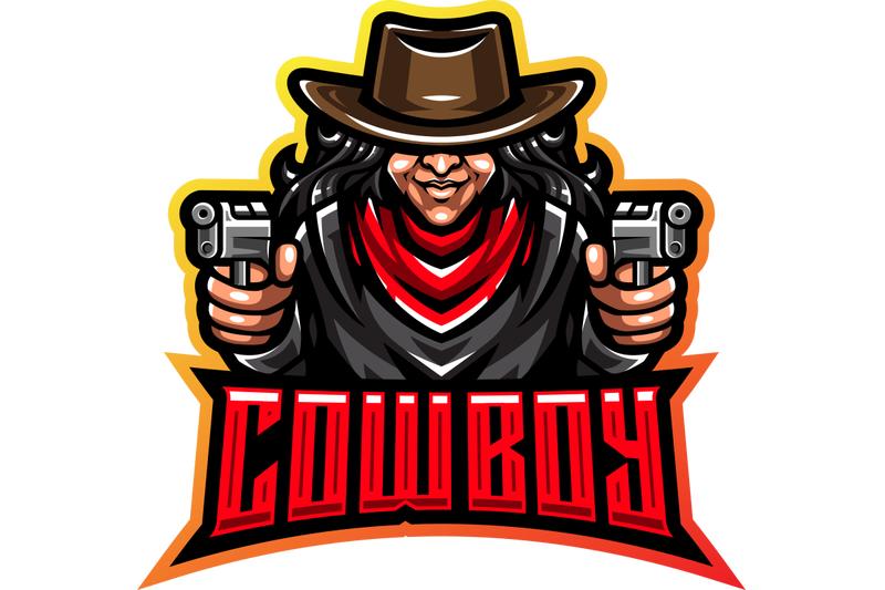 cowboy-esport-mascot-logo