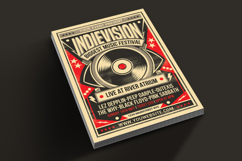 indie-retro-flyer