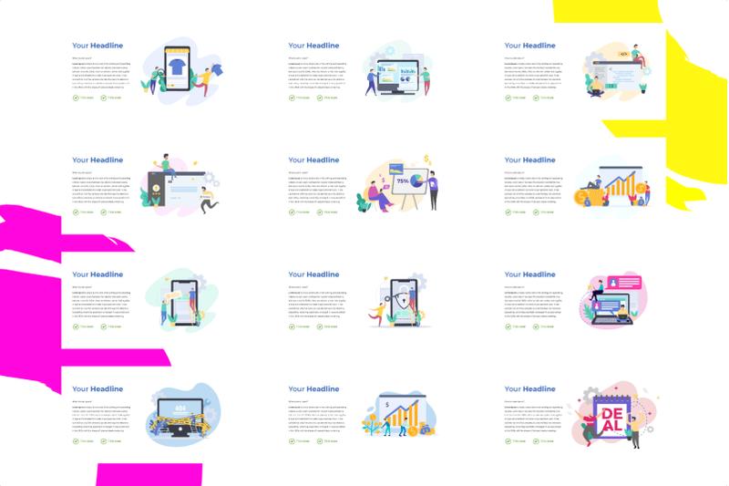 bundle-61-pack-flat-illustration-ppt-ready-for-your-presentation