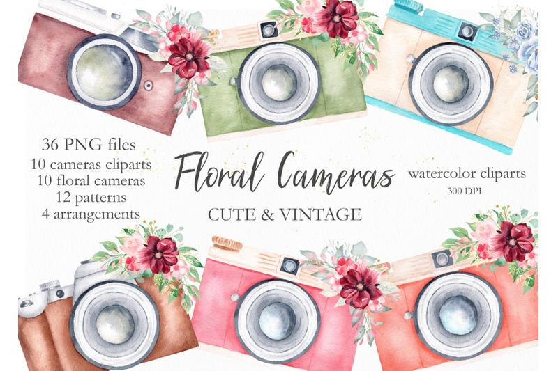 watercolor-vintage-cameras-collection