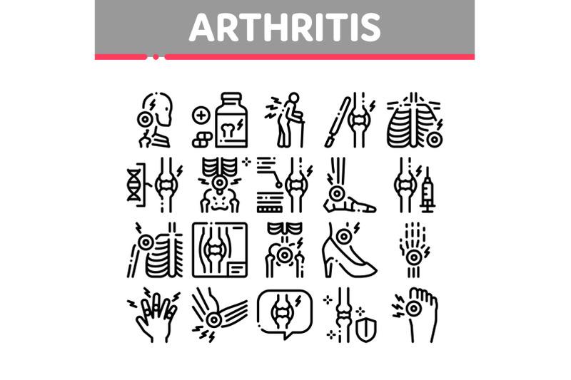 arthritis-disease-collection-icons-set-vector