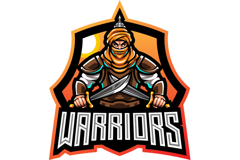 warriors-esport-mascot-logo