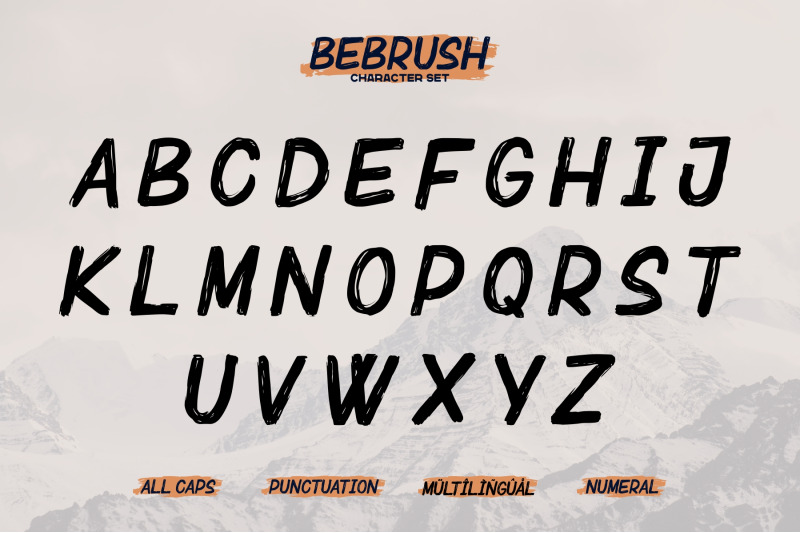 bebrush-hand-brush-font