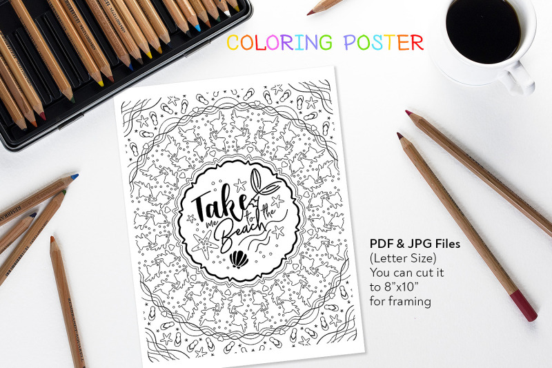 take-me-to-the-beach-coloring-summer-quote