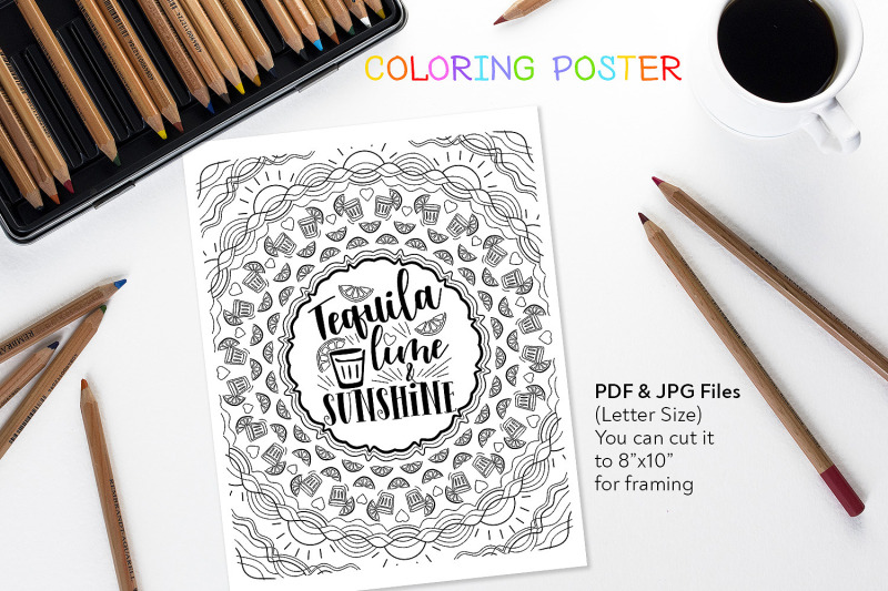 tequila-lime-amp-sunshine-coloring-quote