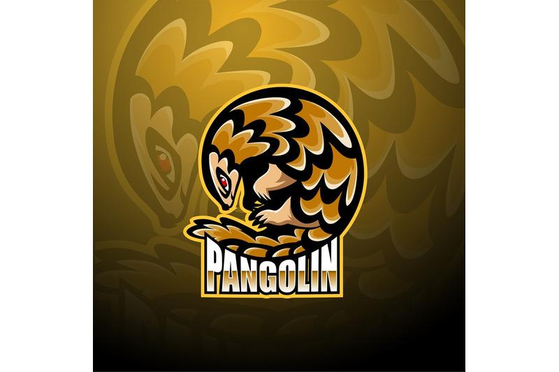 pangolin-esport-mascot-logo