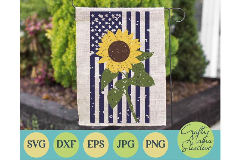 sunflower-svg-american-flag-grunge-svg