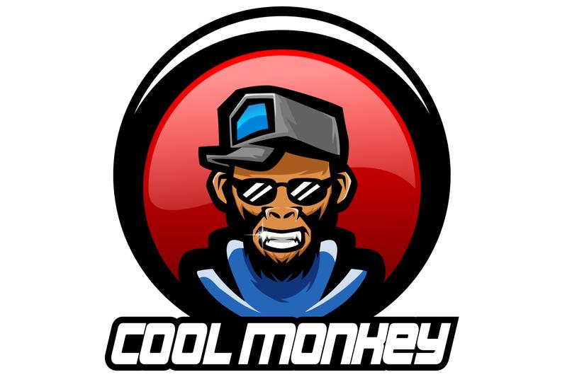 cool-monkey-esport-mascot-logo