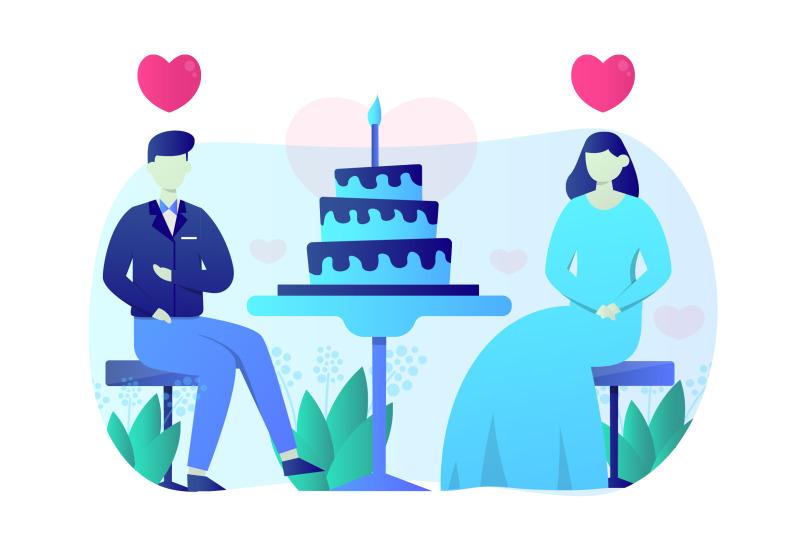 wedding-celebration-flat-illustration