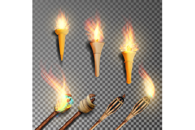 torch-with-flame-realistic-fire-realistic-fire-torch-isolated-on-transparent-background-vector-illustration