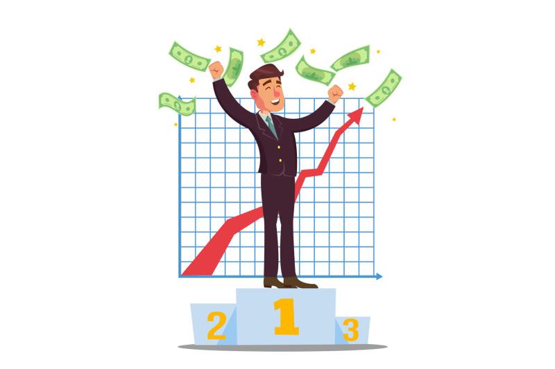 classic-trader-vector-stock-broker-trading-in-a-bull-market-businessmen-trading-stocks-online-cartoon-character-illustration
