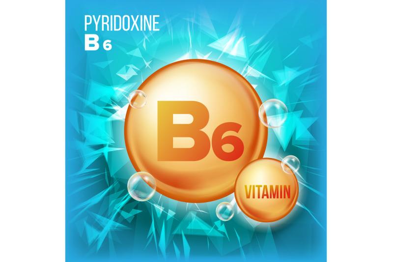 vitamin-b6-pyridoxine-vector-vitamin-gold-oil-pill-icon-organic-vitamin-gold-pill-icon-for-beauty-cosmetic-heath-promo-ads-design-3d-vitamin-complex-with-chemical-formula-illustration