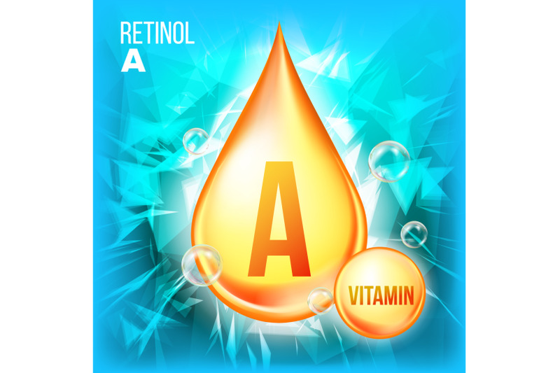 vitamin-a-retinol-vector-vitamin-gold-oil-drop-icon-organic-gold-droplet-icon-liquid-for-beauty-cosmetic-heath-promo-ads-design-drip-3d-complex-chemical-formula-illustration